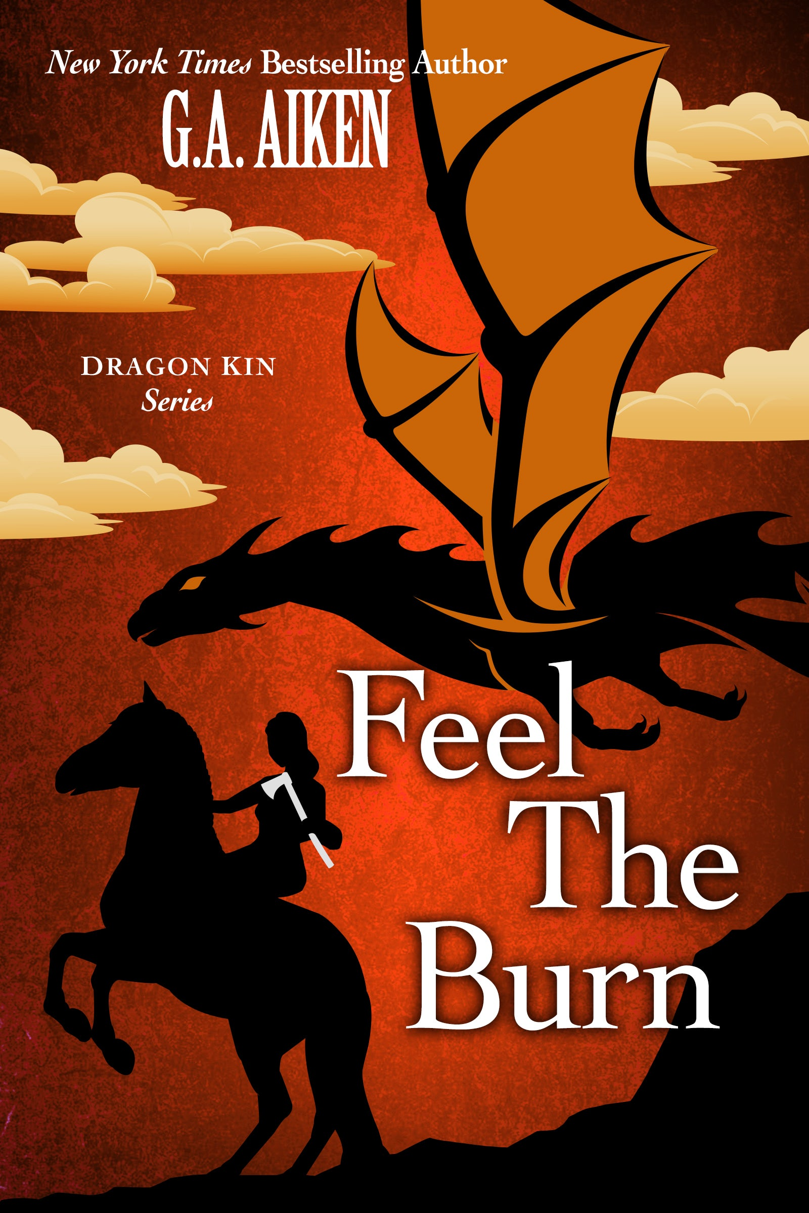 Book Cover for Feel the Burn Dragon Kin 8